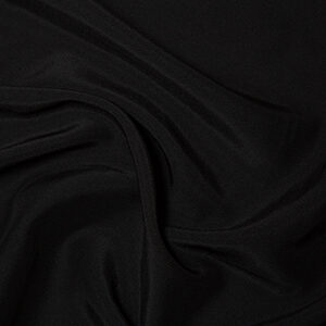 Black (duchess bridal satin)