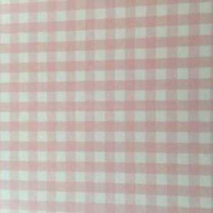 Baby Pink Gingham (thinner scuba)